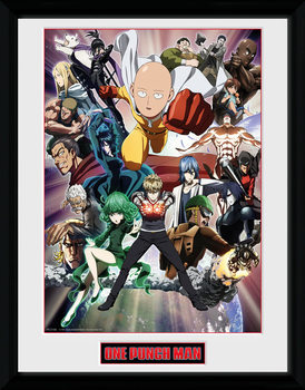 One Punch Man - Key Art Poster enmarcado