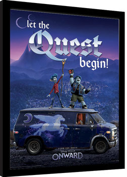 Onward - Guinevere Quest Poster enmarcado