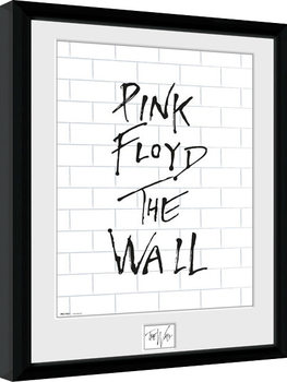 Pink Floid: The Wall - White Wall Poster enmarcado
