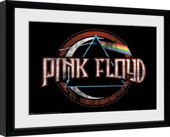 Pink Floyd - Dark Side Circle Poster enmarcado