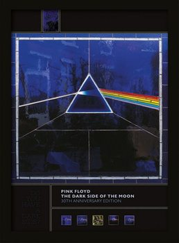 Pink Floyd - Dark Side of the Moon (30th Anniversary) Poster enmarcado
