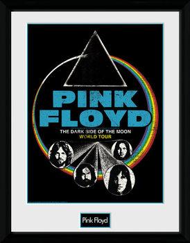 Pink Floyd - Dsom World Tour Poster enmarcado