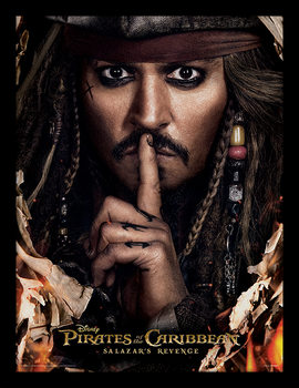 Piratas del Caribe - Can You Keep A Secret Poster enmarcado