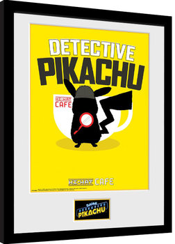 Pokemon: Detective Pikachu - Coffee Poster enmarcado