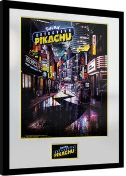 Pokemon: Detective Pikachu - Teaser Poster enmarcado