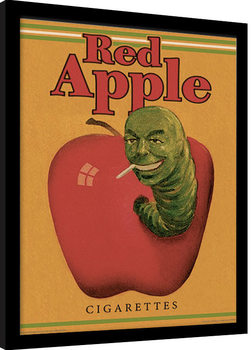 PULP FICTION - red apple cigarettes Poster enmarcado