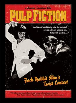 PULP FICTION - twist contest Poster enmarcado