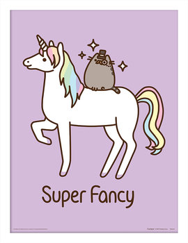 Pusheen - Super Fancy Poster enmarcado