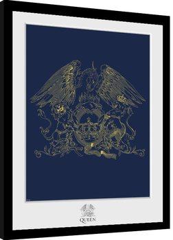 Queen - Crest Poster enmarcado