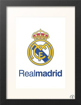 Poster enmarcado Real Madrid