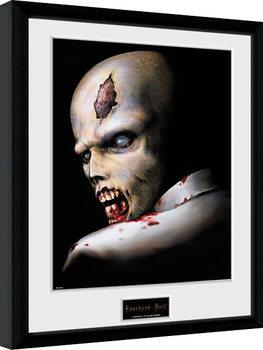 Resident Evil - Zombie Poster enmarcado