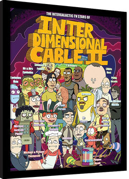 Rick and Morty - Stars of Interdimensional Cable Poster enmarcado