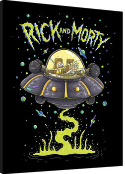 Rick and Morty - UFO Poster enmarcado