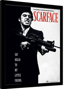 Scarface - Say Hello To My Little Friend Poster enmarcado