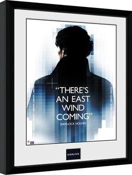 Sherlock - East Wind Poster enmarcado
