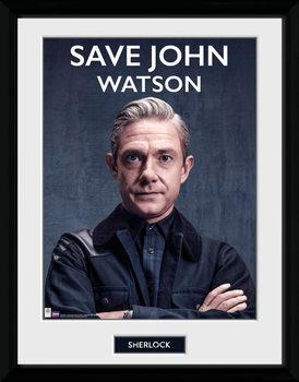 Sherlock - Save John Watson Poster enmarcado