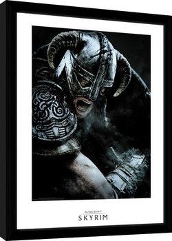 Skyrim - Attack Poster enmarcado