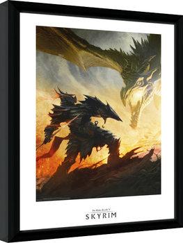 Poster enmarcado Skyrim - Daedric Armour