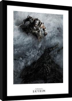 Skyrim - Shout Poster enmarcado