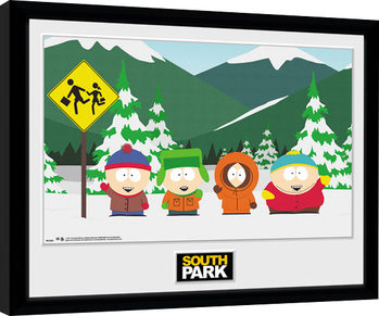 South Park - Group Poster enmarcado