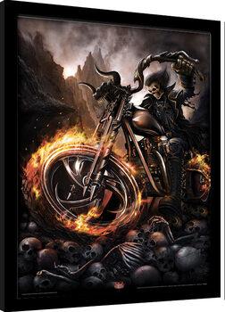 Poster enmarcado Spiral - Wheels of Fire