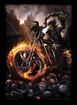 Poster enmarcado Spiral - Wheels of Fire