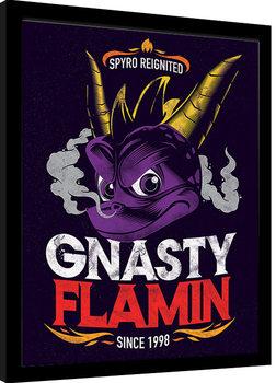 Spyro - Gnasty Flamin Poster enmarcado