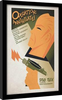 Star Trek (La conquista del espacio) - Operation: Annihilate! Poster enmarcado