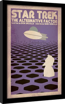 Star Trek (La conquista del espacio) - The Alternative Factor Poster enmarcado