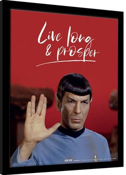 Star Trek - Live Long and Prosper Poster enmarcado