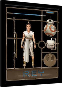 Star Wars: El ascenso de Skywalker - Rey Model Poster enmarcado