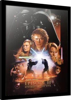 Poster enmarcado Star Wars: Episodio III - La venganza de los Sith