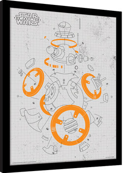 Star Wars: Episodio VIII - Los últimos Jedi - BB-8 Exploded View Poster enmarcado