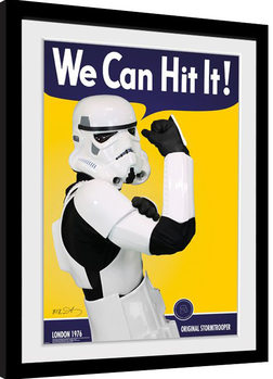 Stormtrooper - Can Hit Poster enmarcado