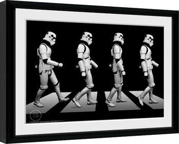 Poster enmarcado Stormtrooper - Crossing
