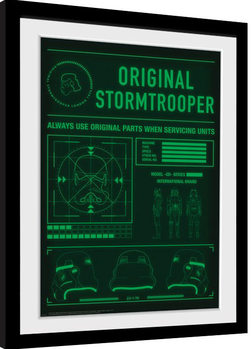Stormtrooper - Technical Readout Poster enmarcado