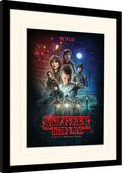 Stranger Things - One Sheet Poster enmarcado