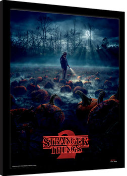 Stranger Things - Pumpkin Patch Poster enmarcado