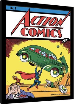 Superman - Action Comics No.1 Poster enmarcado