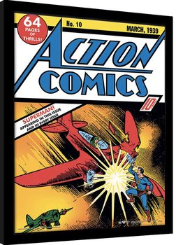 Superman - Action Comics No.10 Poster enmarcado
