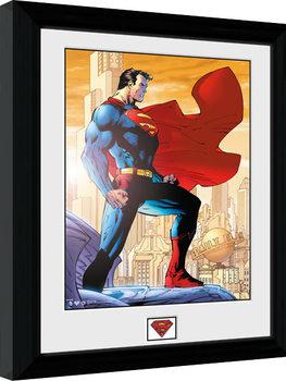 Superman - Daily Planet Poster enmarcado
