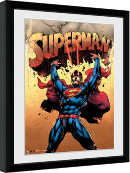 Superman - Strength Poster enmarcado
