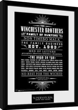 Supernatural - Family Business Poster enmarcado