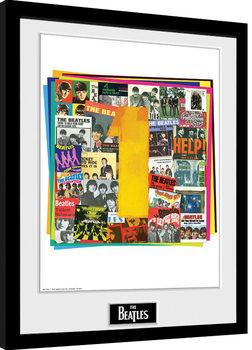 The Beatles - No1 Albums Poster enmarcado