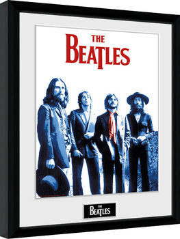 The Beatles - Red Scarf Poster enmarcado