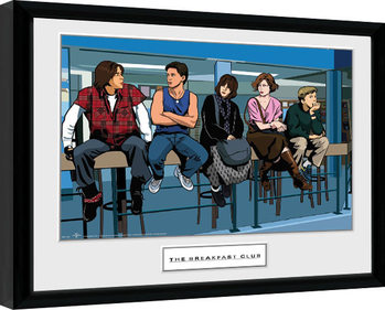 The Breakfast Club - Illustration Characters Poster enmarcado