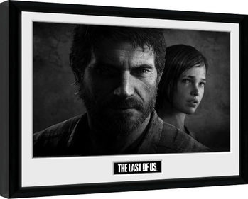 The Last Of Us - Black and White Poster enmarcado