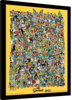 The Simpsons - Characters Poster enmarcado