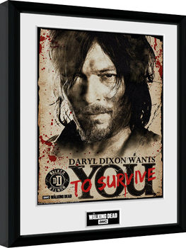 The Walking Dead - Daryl Needs You Poster enmarcado