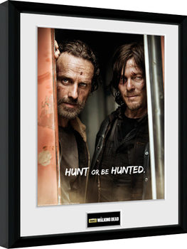 Poster enmarcado The Walking Dead - Rick and Daryl